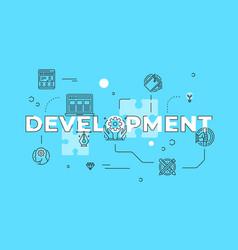 Development text concept modern flat style vector