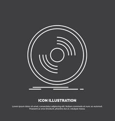 disc dj phonograph record vinyl icon line symbol vector image