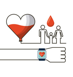 donation blood design vector image