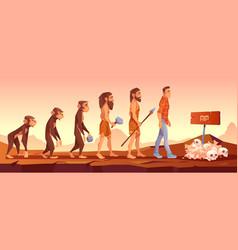 extinction human species evolution time line vector image