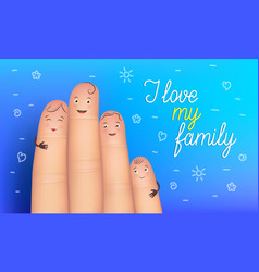 family day poster vector image