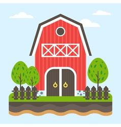 Farm Flat vector image