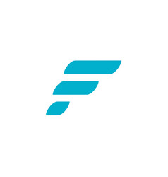 Fast sport letter f logo icon design template vector
