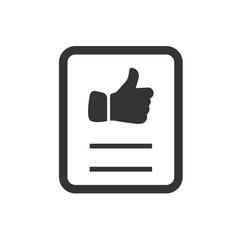 Favorite document icon vector