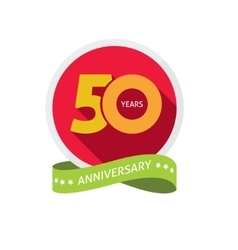 Fiftieth years anniversary logo 50 year birthday vector