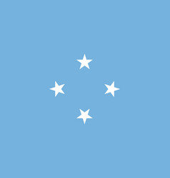 Flag of federated states of micronesia official vector