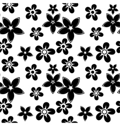floral silhouettes pattern black vector image