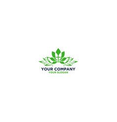 Flower church logo design vector