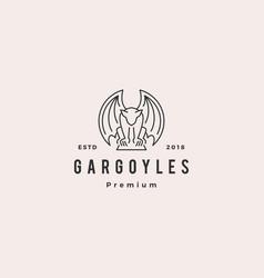 Gargoyles gargoyle logo outline vector