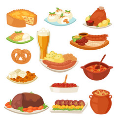 german food traditional cuisine of german vector image