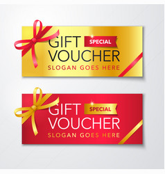 gift voucher template with clean premium pattern vector image