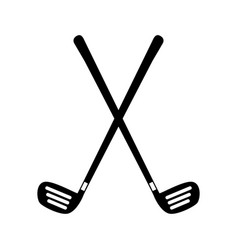 Golf clubs equipment icon vector