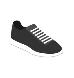 Grey casual sneaker shoes fashion style item vector