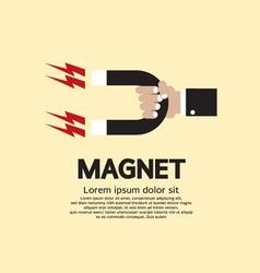 Hand Holding A Magnet vector image