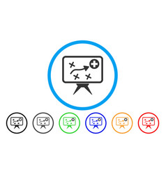 Health strategy rounded icon vector