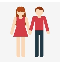 heterosexual couple icon image vector image
