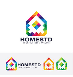 home studio logo design vector image