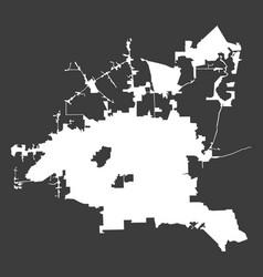 Houston city white map on black background vector