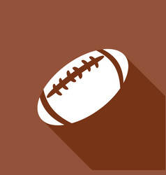 Icon american football with a long shadow vector