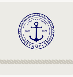 inspirational template nautical style logo vector image