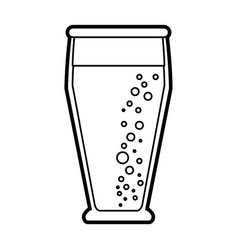 isolated beer glass design vector image