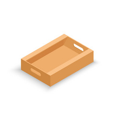 isometric cardboard product box vector image