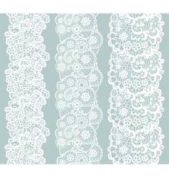 Lacy vintage trim Set of white lacy vintage vector image