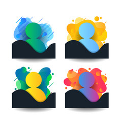 Liquid person shape human in suit avatar abstract vector