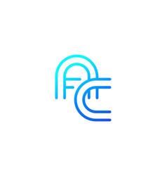 Logo ac letters initials line design vector