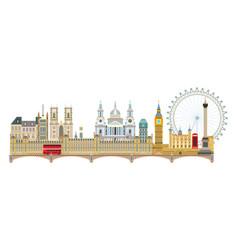 london skyline 6 vector image