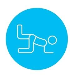 Man exercising buttocks line icon vector