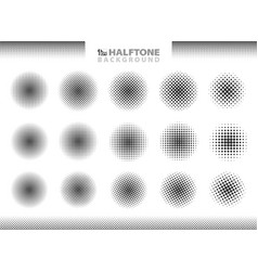 modern halftone set of circles decoration eps10 vector image