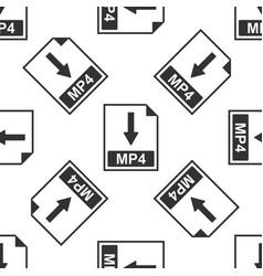 Mp4 file document icon download mp4 button icon vector