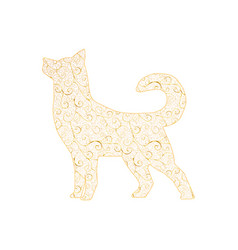 new year 2018 gold dog vector image