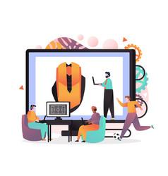 online game concept for web banner website vector image