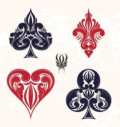 ornamental playing card vector image vector image