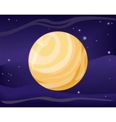 Pluto Planet Sun System Universe vector image vector image