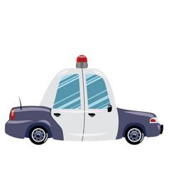 printcartoon police car of vector image