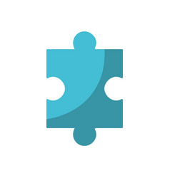 puzzle element to game and teamwork vector image vector image