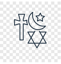 religion concept linear icon isolated on vector image