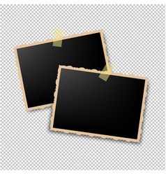 Retro photo frame vector