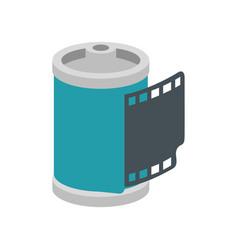 Roll camera nineties retro isolated icon vector