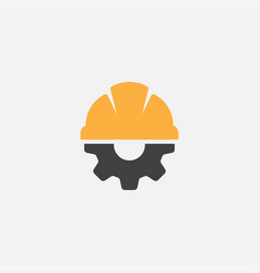 safety helm with gear vector image