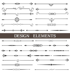 set calligraphic design elements and page decor vector image