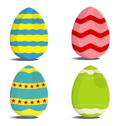 set of egg hunt icon easter egg label on white vector image