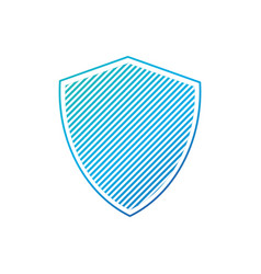 simple striped shield artwork with stripes vector image