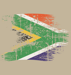 south africa flag vector image