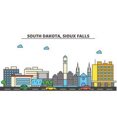 South dakota sioux fallscity skyline vector
