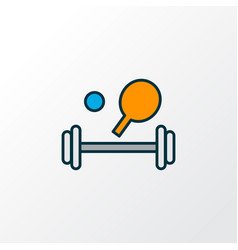 Sport equipment icon colored line symbol premium vector