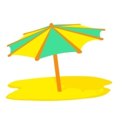 Sun umbrella icon cartoon style vector